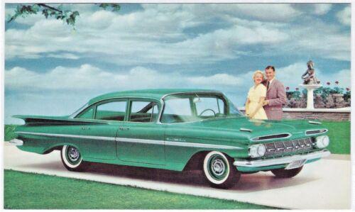 1959 Chevrolet BEL AIR 4-Door SEDAN Original NOS Dealer Promo Vintage Postcard ^