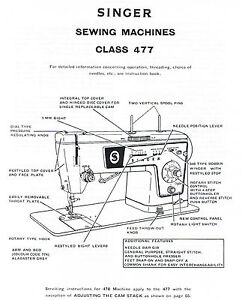 Details about PDF Singer 477 478 Sewing Machine Service Repair Manual  Faultfinding Chart Book