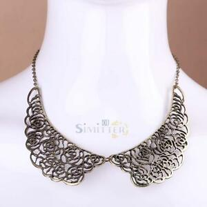 Fashion-Vintage-Hollow-out-Metal-Carved-Rose-Collar-Bib-Choker-Necklace-Jewelry
