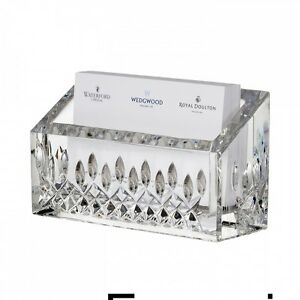Waterford Crystal Lismore Essence Business Card Holder