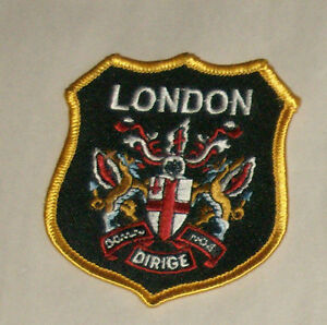 """London Dirige 3"""" Embroidered Sewn World Travel Patch Free Shipping USA"""