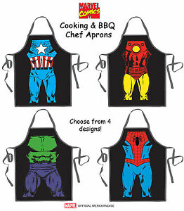Image Is Loading MARVEL COMICS Licensed Superhero Cooking BBQ Grilling  Kitchen
