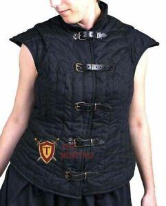 Medieval FEMALE Vest Gambeson padded Costumes dress shirt under sca armor Aketon