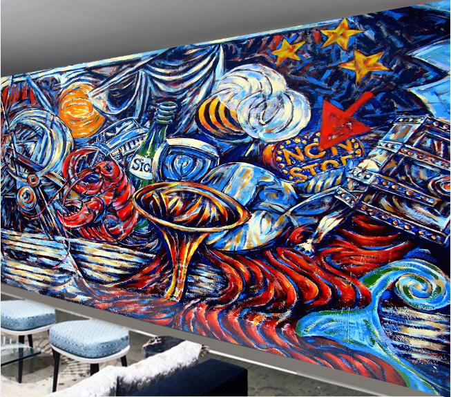 3D Ölgemälde Kreatives 96 Tapete Wandgemälde Tapete Tapeten Bild Familie DE