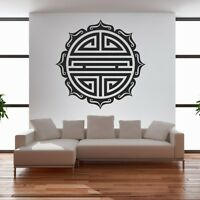 Autocollant Stickers Symbole Rond Asiatique Ref: T-mk536