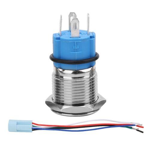 16mm 12V LED Druckschalter Auto KFZ Tastschalter Drucktaster Einbauschalter