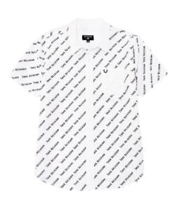 True-Religion-Short-Sleeve-All-Over-Logo-Print-Shirt-Size-XX-Large