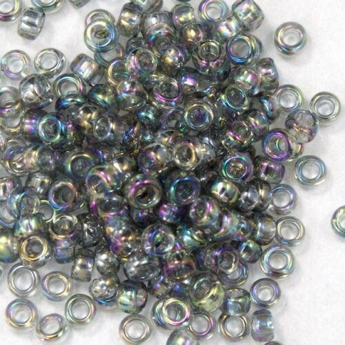 15//0 Transparent Chinchilla Grey AB Japanese Seed Bead #JKO009 20 gm