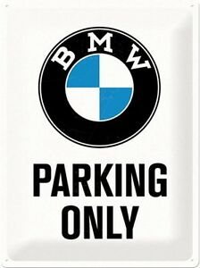 na Mercedes Benz Parking Only embossed metal sign 300mm x 200mm