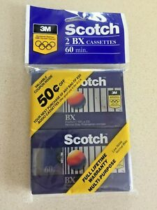 2 Pack of Vintage 3M Scotch BX//90 90 Minute Audio Cassette Tapes Sealed NOS