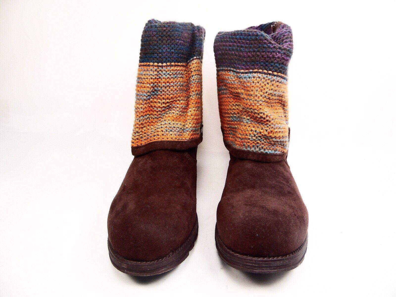 MUK LUKS Demi Women's Boots Dark Brown Size 10