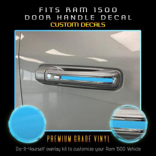 Ram 1500 Door Handle x4 Trim Insert Stripe Accent Decals Glossy Vinyl For 2019