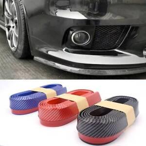 2.5M Car Front Bumper Lip Splitter Body Trim Spoiler Chin Protector Rubber USA