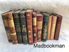 Job Lot of 40 Vintage Antique Books *SUPERB QUALITY* Goldleaf Spines Objet D'art