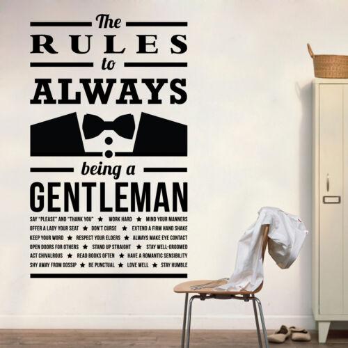 - Hall C Gardez Votre parole Gentleman règles-Travailler dur amour bien restez humble..