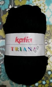 Katia-TRIANA-Yarn-Knitting-RUFFLE-100-Acrylic-33-yds-30m-3-5-oz-100g-BLACK-49