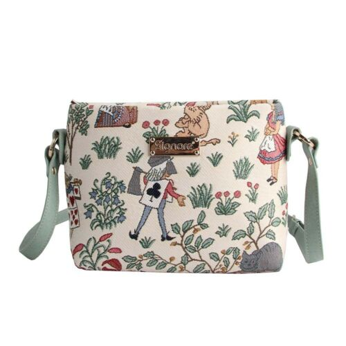 Tapestry Crossbody Purse Shoulder Handbag CFA Voysey Alice in Wonderland Signare