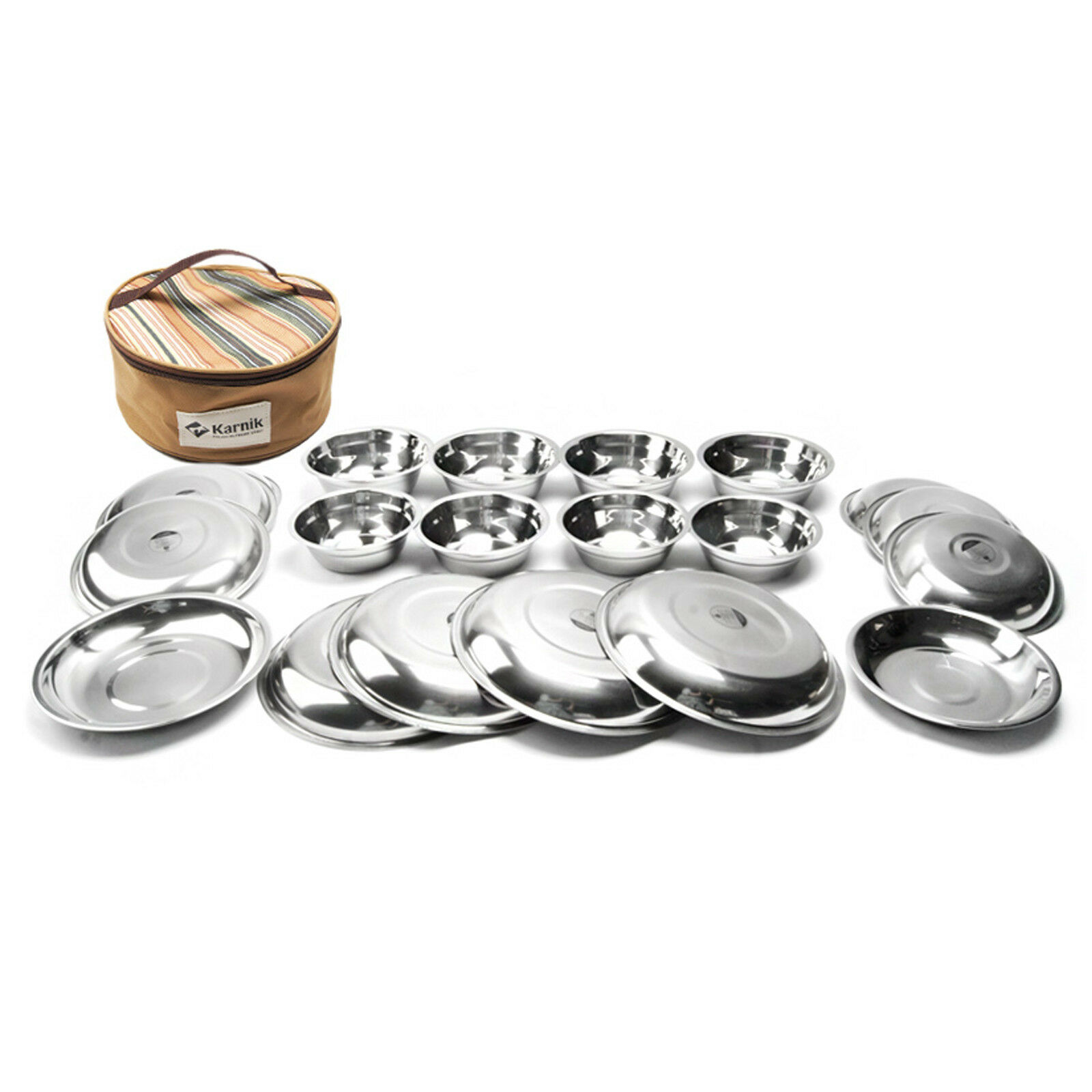 Camping Outdoor  Bowl Set Stainless Steel Steel Steel Cookware 20PCS Set 804e0b