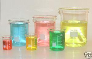 Beaker-set-50-100-250-600-1000-2000mL-Griffin-Borosilicate-Glass-Beakers-Lab-New