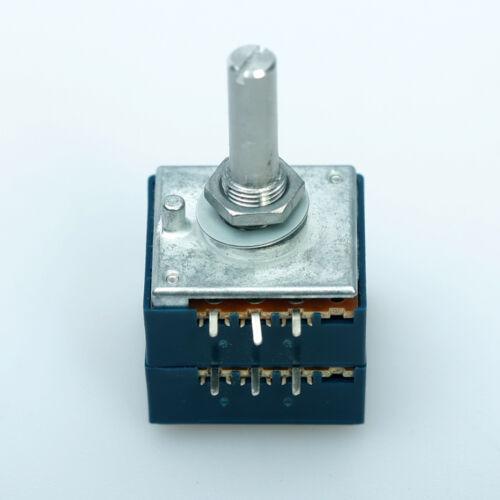 Japan ALPS RK27 VOLUME Pot Stereo audio taper potentiometer Dual 20K ROUND