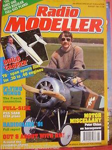 RADIO-MODELLER-AIRCRAFT-AUGUST-1991-SAAB-J21A-PLAN-ADRIAN-KINGSFORD-CASPER