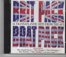 (GA289) Brit Pack Brat Pack, 16 Transatlantic Hits from the 60s - 1996 CD