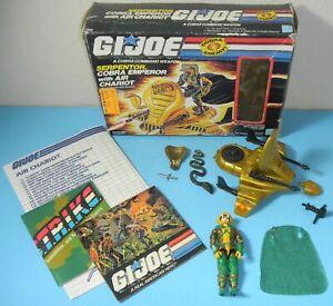Complete-1986-GI-Joe-Serpentor-v1-Cobra-Emperor-Air-Chariot-in-Box-Blueprints