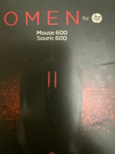 NEW OMEN Mouse HP 600 Optical Cable USB 12000 dpi Black 1KF75AA#ABL