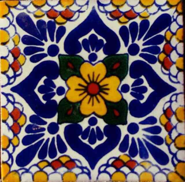 C 118 Mexican Tile Sample Wall Floor