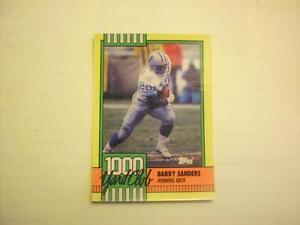 BARRY SANDERS 1990 TOPPS FOOTBALL > 1000 YARD CLUB < INSERT CARD #3