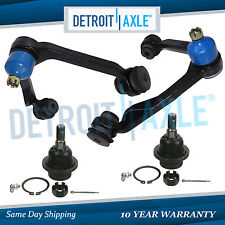 Both (2) Brand New Front Upper Control Arm w/Ball Joint 2 Lower Ball Joint 4x4