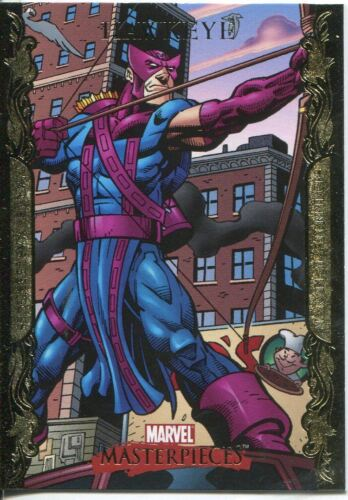 Marvel Masterpieces 2007 UD Gold Border Parallel Base Card #35 Hawkeye
