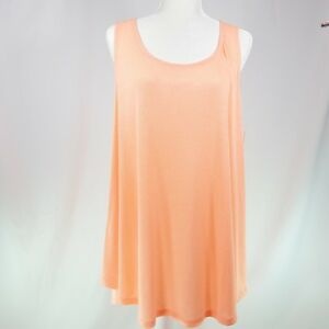 c7151c48c5b NEW French Laundry Womens Knit Top 1X 2X Orange Shirt Cut Out Back ...