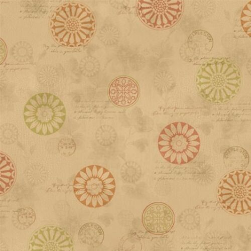 Wilmington Fall Festival by Jane Maday 28100 287 Brown Medallions Cotton Fabric