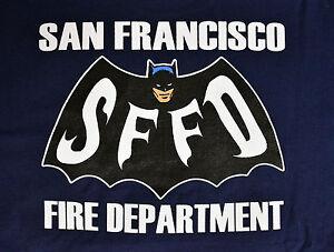 San Francisco Fire Department 1966 Batman T Shirt New Ebay