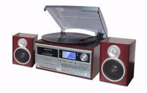 TechPlay-ODC128BT-Wood-Stereo-Record-Player-Turntable-Bluetooth-CD-Cassette-NEW