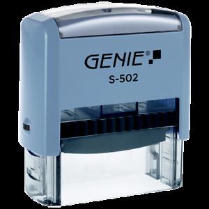 GENIE S-502 Selbstfärbender Stempel Set mit bis zu 5 Zeilen