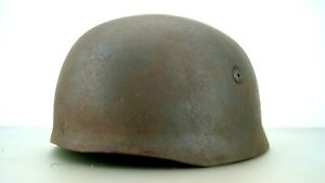 WW2-GERMAN-PARATROOPER-HELMET-RARE-ONE-COMPLETE-WITH-BOLTS-NUTS