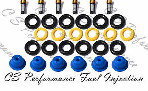 PINTLE CAPS SPACER FILTER 90-95 FORD MAZDA V6 FUEL INJECTOR REPAIR KIT O-RINGS