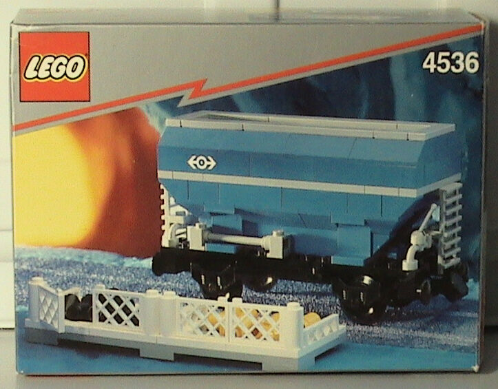 NEW Lego Train 9V 4536 Blau Hopper Car New Sealed