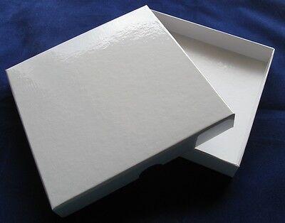 WEDDING INVITATION BOXES 10 SOLID 150 x 150 x 23 mm Gift Boxes White Gloss RIGID