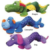 Dog Toy Shakers Rattling & Squeaking Tough Toys For Dogs Choose Size & Character