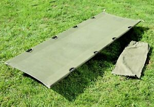 Belgian-Army-Camp-Bed-Military-Issue-Folding-Camping-Cot-Bed-Strong-amp-Compact