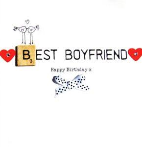 Image Is Loading Best Boyfriend Birthday Bexyboo Scrabbley Neon Card