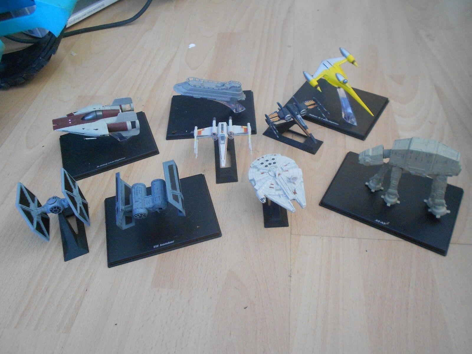 9 X STAR WARS STEEL  DIECAST MODEL SPACE SHIPS SHIPS SHIPS   LAND WALKER e95809
