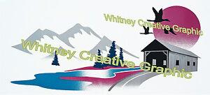 "Cedar Creek  RV LOGO Graphic decal lettering vinyl sticker 78/""X17.5/"""