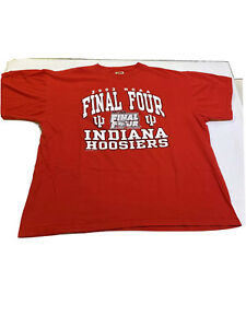 Mens-XL-NCAA-Final-Four-2002-Indiana-Hoosiers-Long-Sleeve-Shirt-Atlanta-Georgia