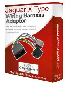 Jaguar X-Type radio stereo wiring harness adapter lead loom ISO converter |  eBayeBay
