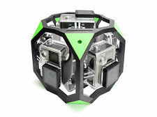 360 Degree Spherical Panorama Mount f. 7x GoPro Go Pro HERO 3, 3+, 4 Green