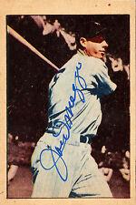 Joe DiMaggio Autographed 1952 Berk Ross Baseball Card   REPRINT